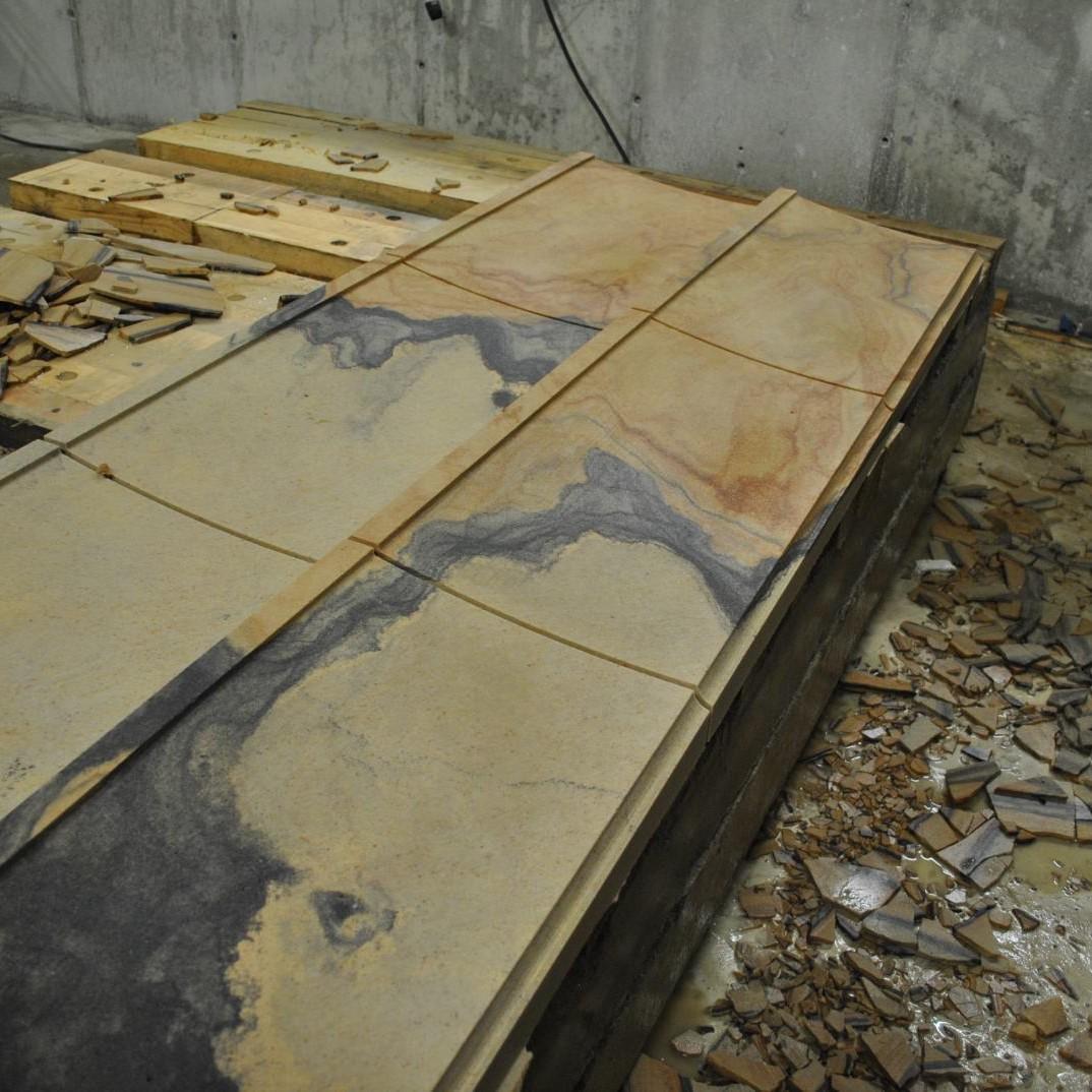 CnC Fraese - Abdeckung aus Sandstein
