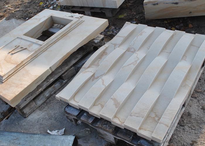 CnC Fraese - Fassadenplatte aus Sandstein