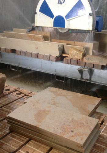 CnC Fraese - Fliesen Terassenplatten aus Sandstein