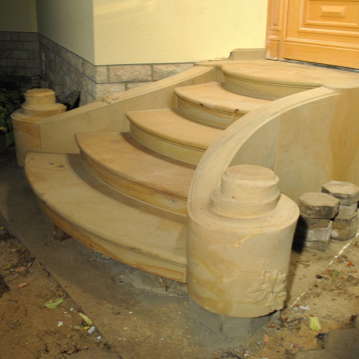 Treppen geschwungen mit Volute - 2