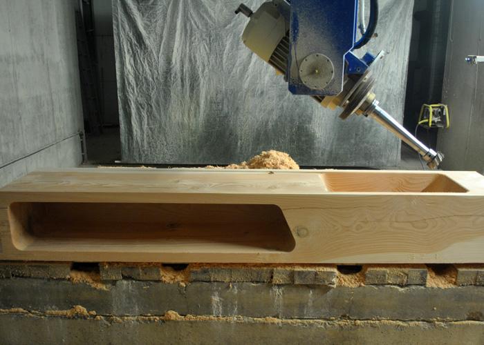CNC 5 Achs - Küchenspüle aus Holz